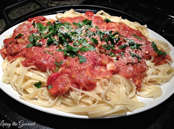 """light"" Bolognese Sauce With Fettuccine Recipe"