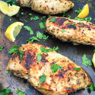 Za'atar Spiced Grilled Chicken.