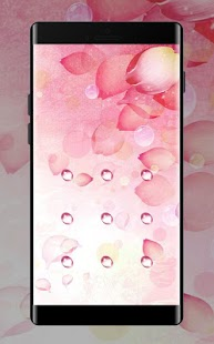 Pink Petal APP Lock Theme Nature Pin Lock Screen - náhled