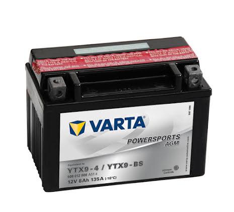 MC batteri Varta 12V/8Ah YTX9-BS YTX9-4