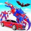 Flying Dino Transform Robot: Dinosaur Robot Games icon