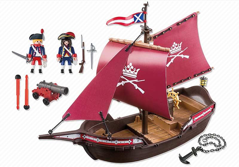 Contenido Real de Playmobil® 6681 Barco Patrulla de los Soldados