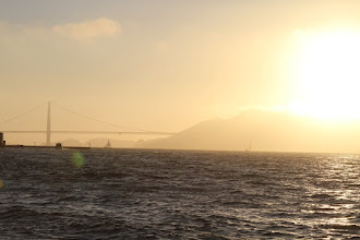 Photo: Evening comes and we head down to Fisherman's Wharf to watch the sun set.