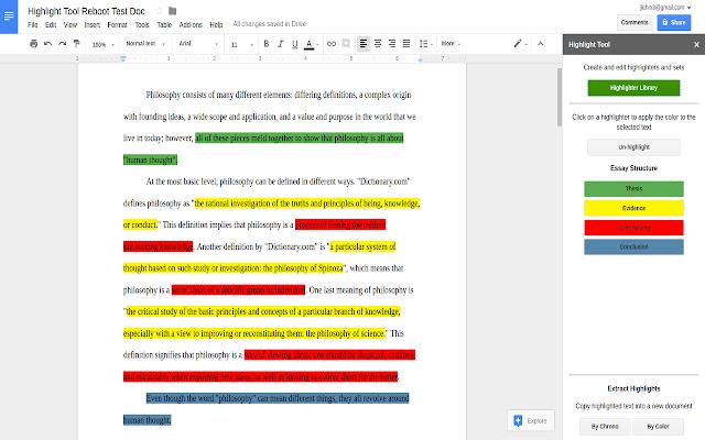 Highlight Tool - Google Docs add-on