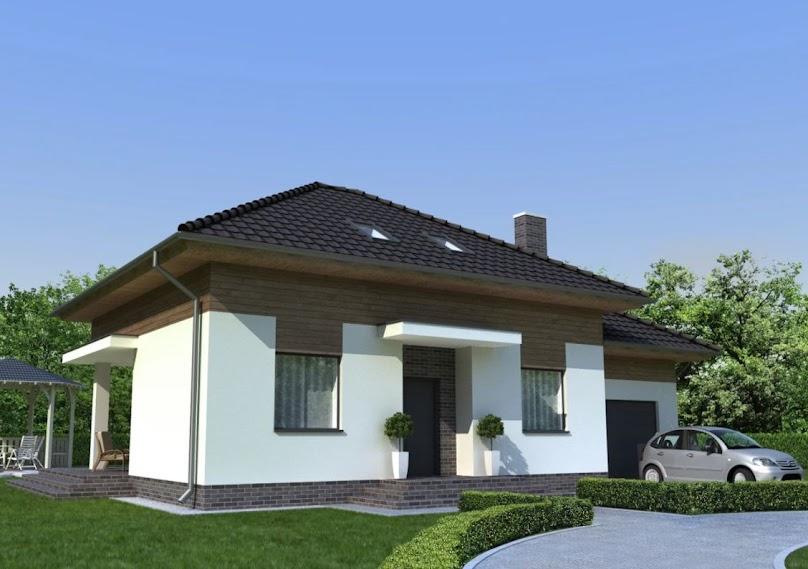 Projekt domu z garażem wbudowanym w bryłę