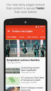 English News - Prothom Alo - náhled