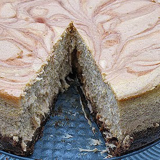 Swirled Caramel and Pumpkin Cheesecake Supreme