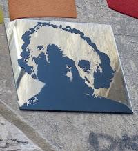 Photo: Spiegelkachel; Albert Einstein