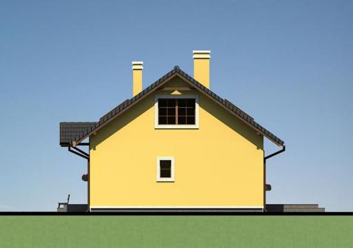 Mały dom w Chociwlu 1 - Elewacja prawa