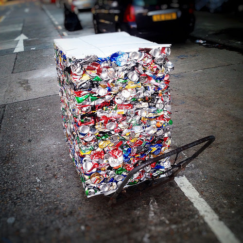 Recycling, recycle, Aluminum Cans, Street side, hong kong,  香港, 街邊, 回收, 鋁罐