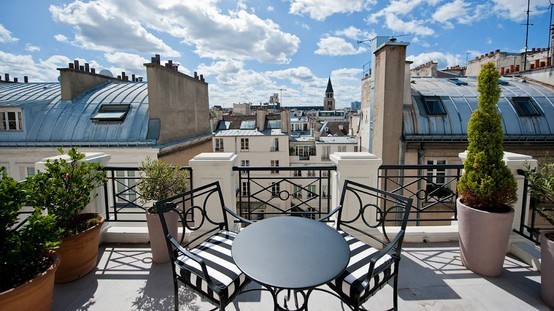 "Photo: Enjoy views of the ""City of Love"" at L'Hôtel, Paris. Book the Penthouse Suite for views overlooking Saint Germain. See more of the hotel here: http://bit.ly/KHqkpf"