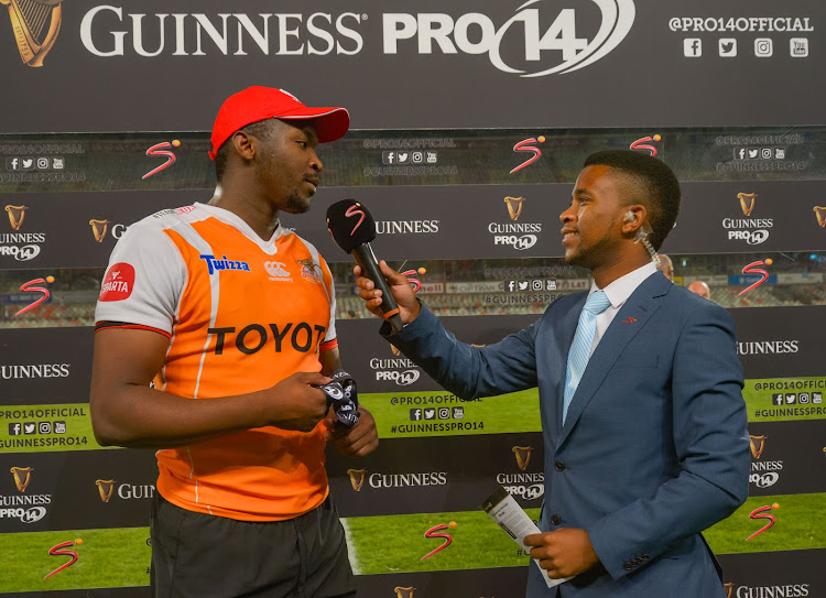 Man of the Match Junior Pokomela during the 2017 Guinness PRO14 game between the Cheetahs and Edinburgh at Toyota Stadium, Free State on 24 November 2017.
