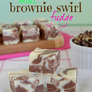 Brownie Swirl Mint Fudge