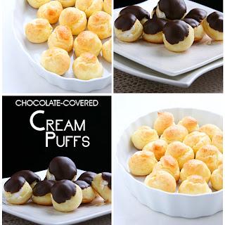 Chocolate-Covered Cream Puffs