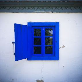 Blue window by Alex Cruceru - Artistic Objects Other Objects ( old, wood, window, blue, house )