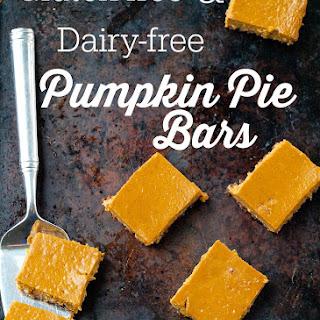 Gluten-free, Dairy-free Pumpkin Pie Bars.