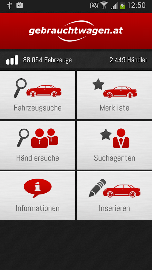 gebrauchtwagen.at- screenshot