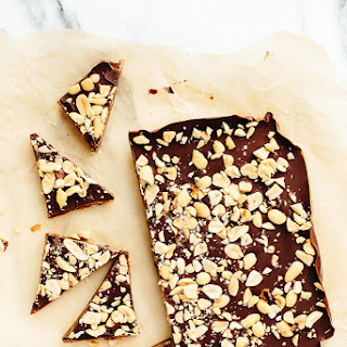 Vegan Caramel, Peanut Butter, and Chocolate Bark