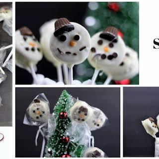 Easy Snowman Cookie Pops.