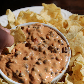 Crock Pot Black Bean Queso Dip.