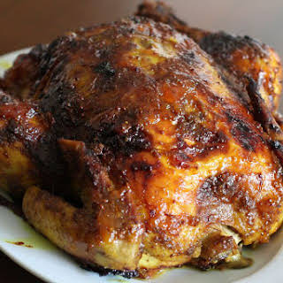 Roasted Chicken With Curry Rub.