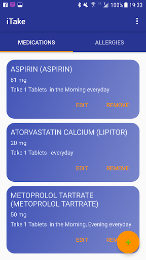 iTake Mobile Medication List screenshot for Android