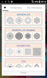 Mandalas coloring pages (+200 free templates) APK screenshot thumbnail 5