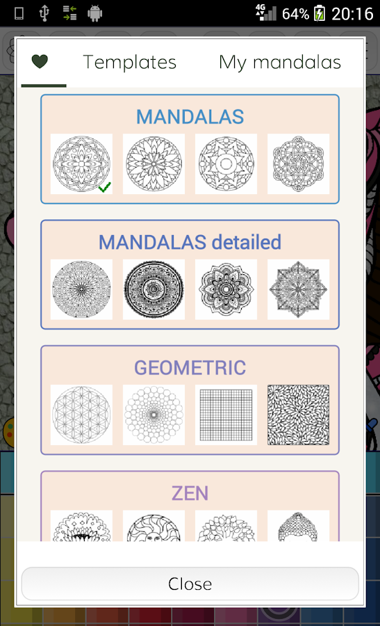 Mandalas coloring pages- screenshot
