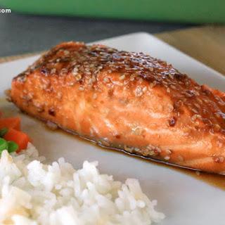 Sesame Garlic Baked Salmon
