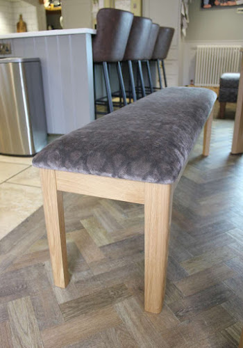 Oak Bench with Fabric Cushion
