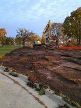 Photo: Excavation of New Entrance Drive 10-29-2013