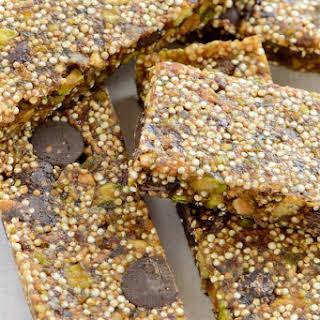 Chocolate Pistachio Quinoa Bars.