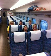Photo: Inside the Shinkansen (bullet train) to Kyoto.