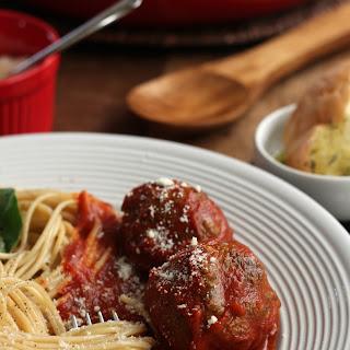 Homemade Italian Spaghetti and Meatballs