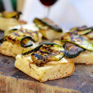 Grilled Zucchini Crostini.