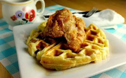 """Chicken and Potato Waffles""""Take off on chicken and waffle's... pure country."""" -..."""