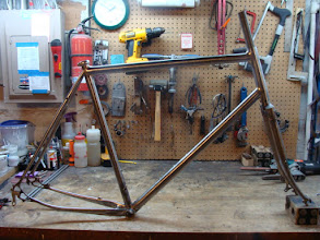 Photo: Finished frame and fork, ready for paint.