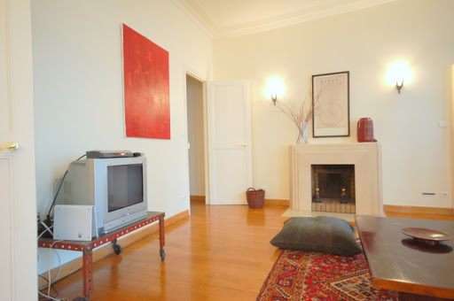 Spacious living room at 2 Bedroom Family Apartment in Louvre and Les Halles