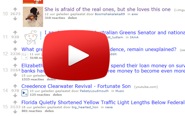 Youtube Hover