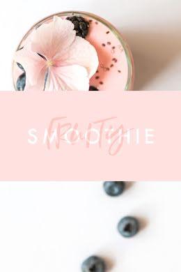 Fruity Smoothie - Pinterest Pin item