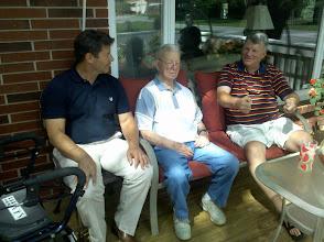 Photo: Family visitors - Paul, Bill & Bill Jr.