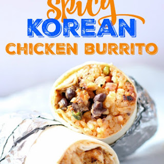 Spicy Korean Chicken Burrito