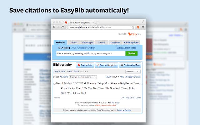 easybib mla website citation
