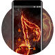 Lock theme for fire music note flame wallpaper Download on Windows