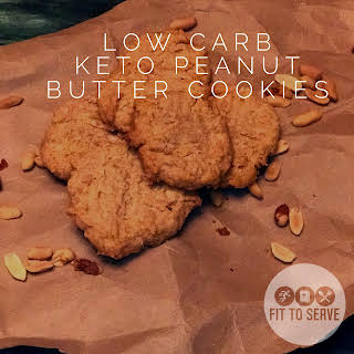 Low Carb Keto Peanut Butter Cookies.