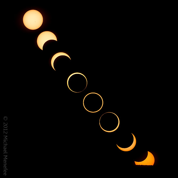 Photo: The Setting of the Annular Solar Eclipse of 2012, May 20