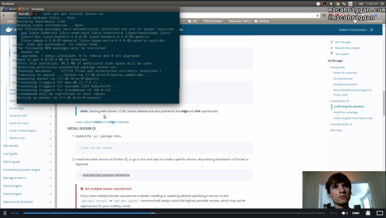 LiveEdu engineers working on Docker
