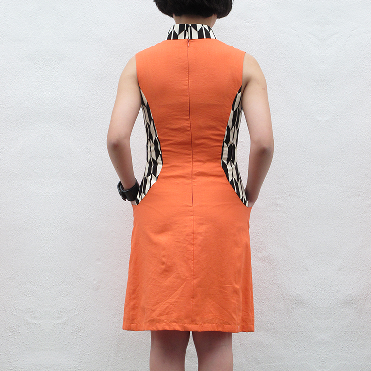 Fen Qipao Orange Medium