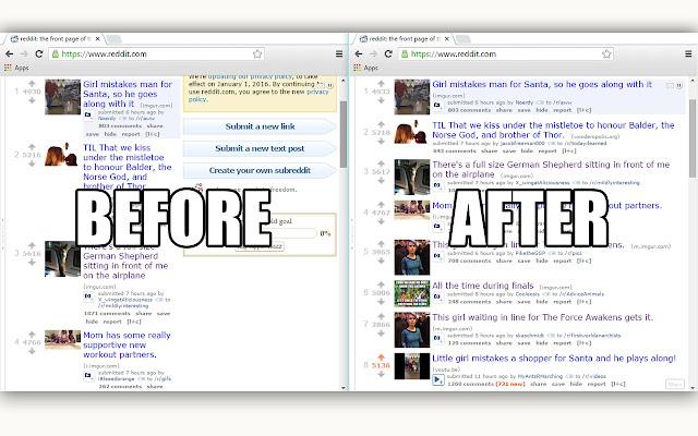 Reddit Sidebar Toggle Button