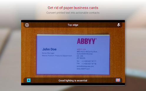 Business card reader free business card scanner apps on google screenshot image reheart Image collections